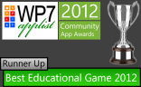 Beaten only by Microsoft's Wordament. Brain App came 2nd place for Educational Game of the Year.